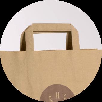 Uchwyt płaski torby papierowe